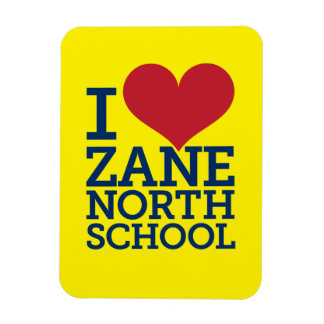 "I Heart Zane North School 3""x4"" Flex Magnet"