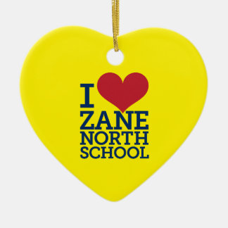 I Heart Zane North School Heart Ornament