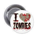 i heart zombies button