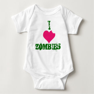 I HEART ZOMBIES-creeper Baby Bodysuit