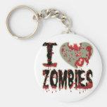 i heart zombies! key chains