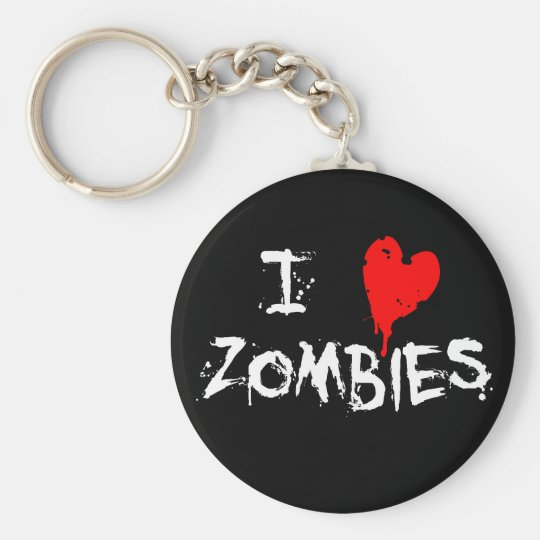 I Heart Zombies - Keychain