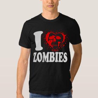 i heart zombies tee t shirt