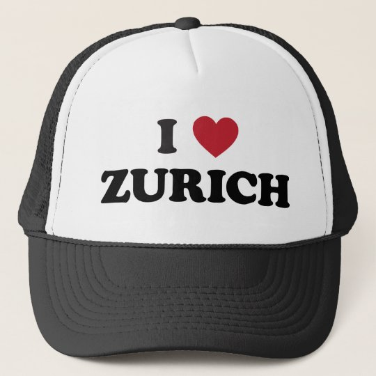 I Heart Zurich Switzerland Trucker Hat