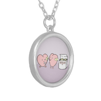 I heartly care about you round pendant necklace