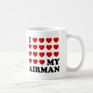 I (hearts) my Airman Basic White Mug