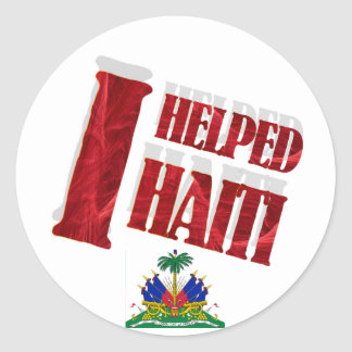 I helped Haiti Sticker