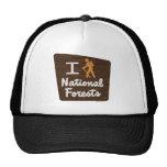 I HIKE NATIONAL FORESTS TRUCKER HAT