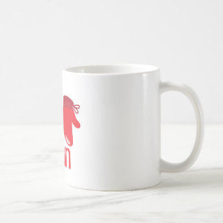 I hit like a man with red boxing glove coffee mug