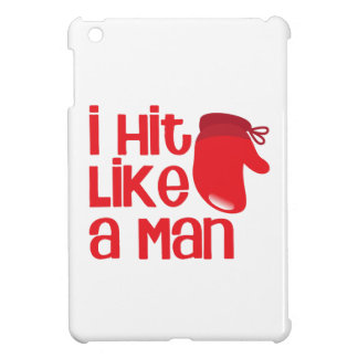 I hit like a man with red boxing glove iPad mini covers