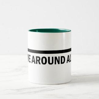 I hoe around all day gardener mug! Two-Tone mug
