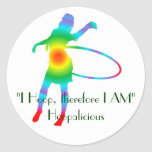 """I Hoop, therefore I AM"" Stickers"