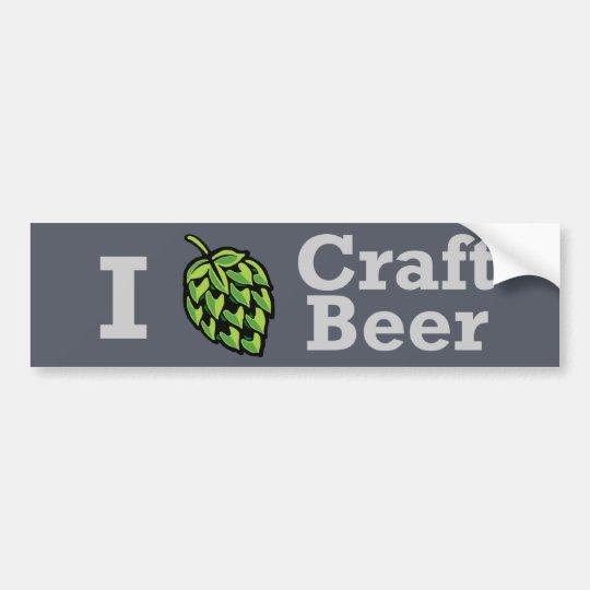 I [hop] Craft Beer Sticker Bumper Sticker
