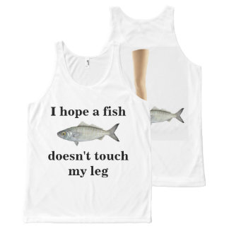 I hope a fish doesn't touch my leg! I'd hate that All-Over Print Tank Top