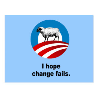 I hope change fails postcards