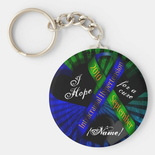 I Hope For A Cure Ribbon Keychain