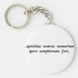 I hope that the memory of our friendship will..... key ring