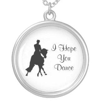 I Hope You Dance Dressage Horse Necklace