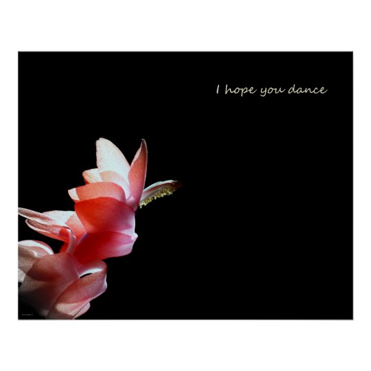 I hope you Dance Poster