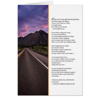 I Hope You Share My Commitment...Relationships Greeting Card