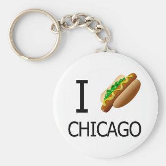 I Hotdog Chicago Keychainx Key Ring