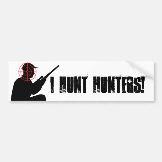 I hunt hunters with target sticker