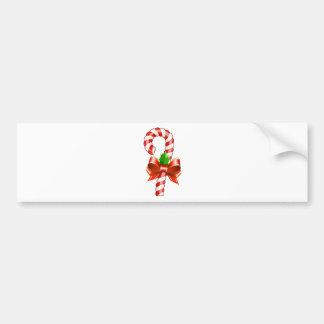 i I heart Christmas Santa Claus candy cane snowman Bumper Sticker