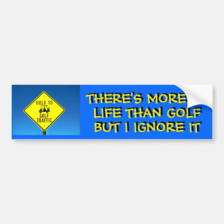 I Ignore Life, Play Golf -  Golf Cart Bumper Sticker