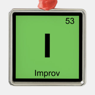 I - Improv Theatre Chemistry Periodic Table Symbol Christmas Ornament