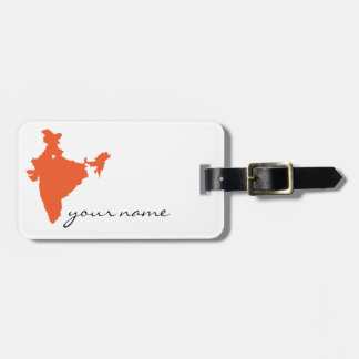 I ♥ India_luggage tag