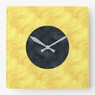 I India Watercolor Nautical Signal Maritime Flag Square Wall Clock