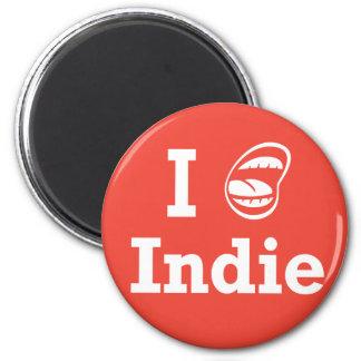 I ☺ Indie Fridge Magnet