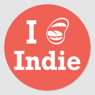 I [☺] Indie Round Sticker