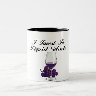 I Invest in liquid Assets Mugs