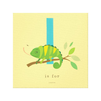 I is for... stretched canvas print