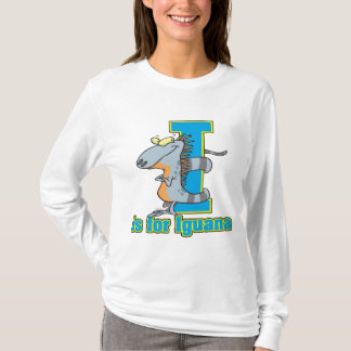 I is for iguana letter abc cartoon T-Shirt