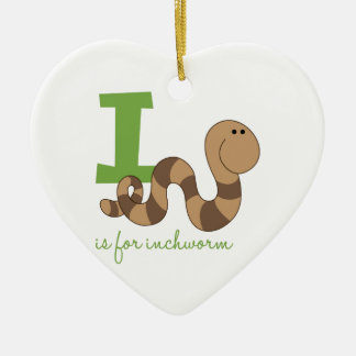 I Is For Inchworm Christmas Ornament