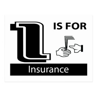 I Is For Insurance Postcard