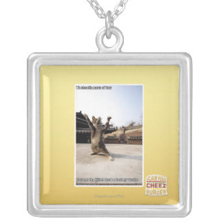 I iz shaolin paws of fury silver plated necklace