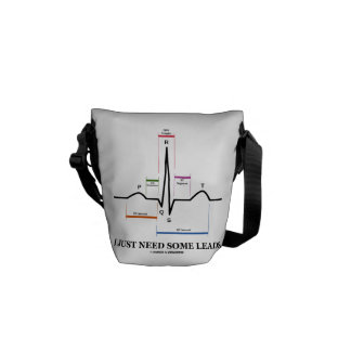 I Just Need Some Leads (ECG/EKG Heartbeat) Courier Bags