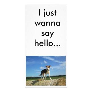 I just wanna say hello fotokartenvorlagen