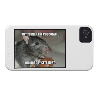 I Keep Chocolate Nobody Gets Hurt iPhone 4 Case-Mate Cases