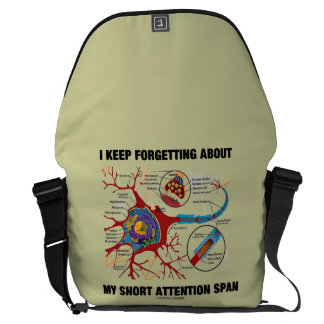 I Keep Forgetting About My Short Attention Span Commuter Bag