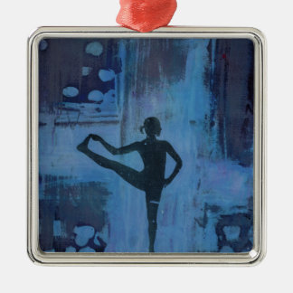 I Keep My Balance Yoga Girl Christmas Ornament