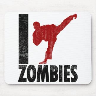 I Kick Zombies Mouse Pad
