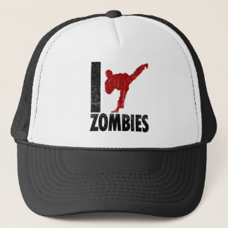 I Kick Zombies Trucker Hat