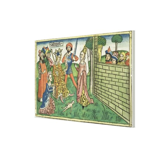 I Kings 3 16-28 Judgement of Solomon, from the 'Nu Gallery Wrap Canvas