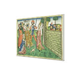 I Kings 3 16-28 Judgement of Solomon, from the 'Nu Canvas Print