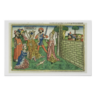 I Kings 3 16-28 Judgement of Solomon, from the 'Nu Poster