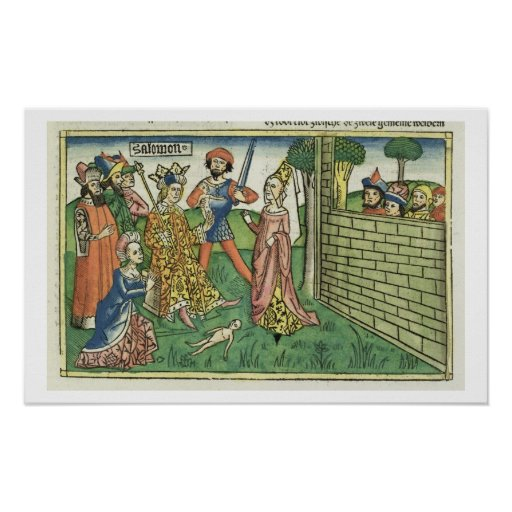 I Kings 3 16-28 Judgement of Solomon, from the 'Nu Posters